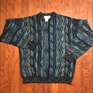 Norm Thompson Vtg Cosby Biggie Coogi Style Sweater